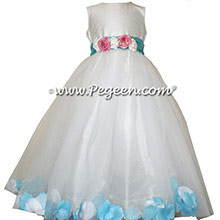 Bahama Breeze FLOWER GIRL DRESSES with TULLE - style 333 by pegeen