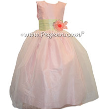 Custom Petal Pink silk with Organza CUSTOM FLOWER GIRL DRESSES by Pegeen