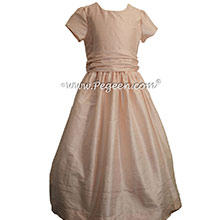 Baby Pink and 1/4 Cap Sleeves  FLOWER GIRL DRESSES Pegeen style 388 for Jr Bridesmaids
