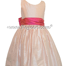 BABY PINK AND SORBET PINK JR. BRIDESMAID DRESS STYLE 388 BY PEGEEN