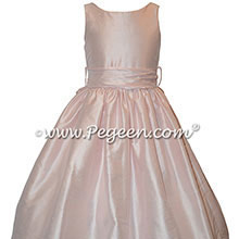 CUSTOM FLOWER GIRL DRESSES in Peony Pink for Jr. Bridesmaids | Pegeen