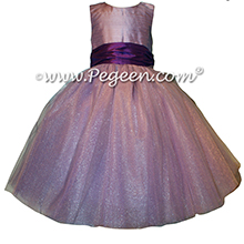 Amethyst and Deep Plum ballerina style with Pegeen Signature Bustle with layers and layers of tulle