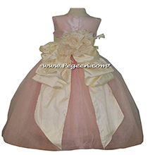 Toddler Pink Tulle Flower Girl Dress with Pegeen Signature Bustle