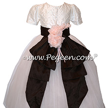 Trellis and Pearls and Trailing Rose Tulle Flower Girl Dresses