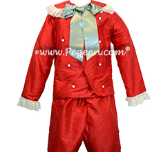 Nutcracker Boy's Style 540 - Ring Bearer set in Red and Green