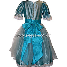 Adriatic Tulle and Pacific Blue Tulle Nutcracker Party Scene Dress Style 703 by Pegeen