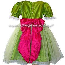 Grass Green and Raspberry Tulle Nutcracker Party Scene Dress Style 703 by Pegeen