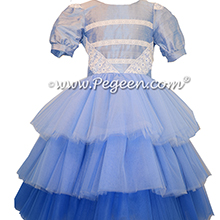 3 Tier Tulle Ombre Flower Girl Dresses
