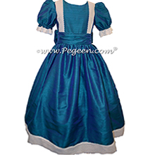 Peacock Silk Nutcracker Party Scene Dress Style 751 by Pegeen