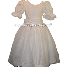 Clara Party Dress for Nutcracker Ballet in Antique White - Part of the Nutcracker Collection by Pegeen Style 755