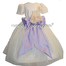 Lilac and New Ivory Infant Flower Girl Dresses Style 802