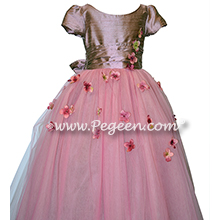 Flower Girl Dress Style 900 - Earth Fairy from the Fairytale  Collection in Canyon Pink