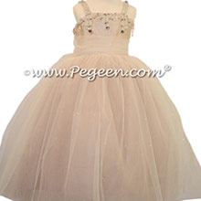 Toffee Flower Girl Dresses with Swarovski Crystals - Pegeen Fairytale Collection style 904