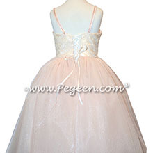 Champagne Pink Flower Girl Dresses Morganite with Swarovski Crystals Style 905 - Fairytale Collection