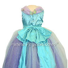 Turquoise and Purple Shades - Our Cinderella Princess Flower Girl Dresses