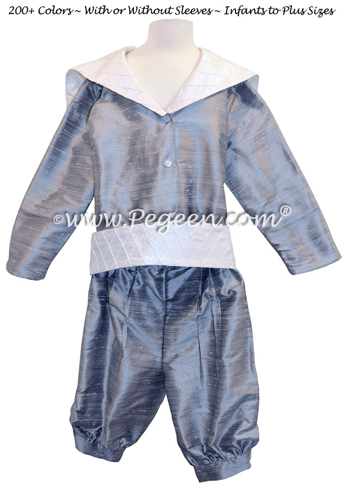Style 241 Sailor Ring Bearer Suit in Silver Gray