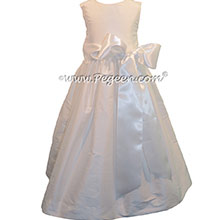 Pegeen's Basic Add A Sash Flower Girl Dress in Antique White
