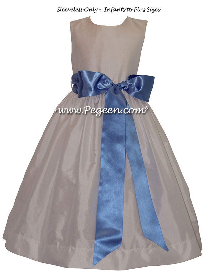 New Ivory And White Jr. Bridesmaid Dress Style 300