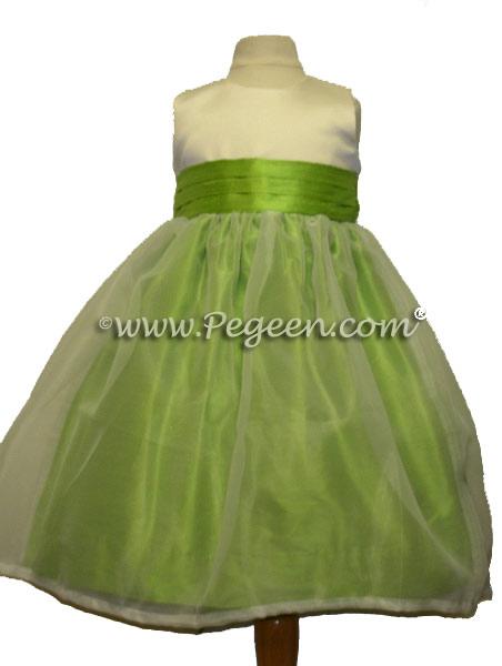 APPLE GREEN CUSTOM FLOWER GIRL DRESSES