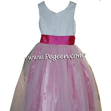 Custom Cerise Pink and Rose Flower Girl Dresses