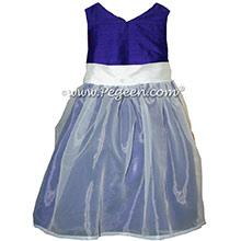 Royal Purple Silk Flower Girl Dresses by PEGEEN STYLE 301