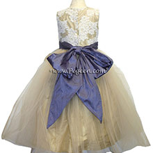 CHAMPAGE, ALONCON LACE, TULLE AND EURO LILAC FLOWER GIRL dresses