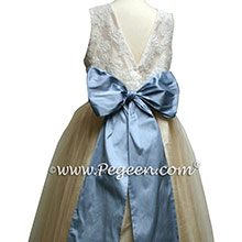 aloncon lace and french blue tulle jr bridesmaids dresses