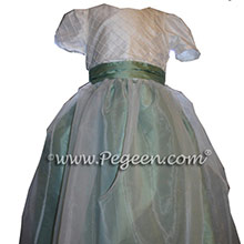 CELEDON FLOWER GIRL DRESSES