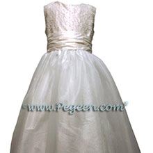 white communion dress with pearls