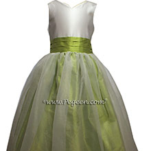 Citrus Green flower girl dresses