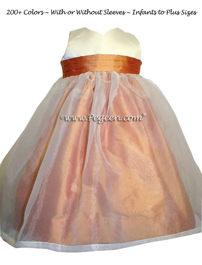 Custom Cantaloupe Flower Girl Dresses Style 301
