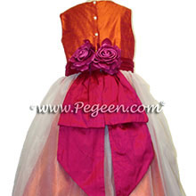 mango and raspberry plus size junior bridesmaids dresses