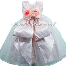 Petal Pink silk Organza Flower Girl Dresses by Pegeen