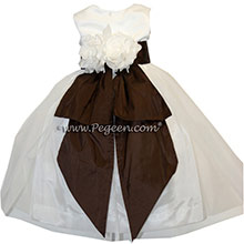 SEMI-SWEET CHOCOLATE BROWN FLOWER GIRL DRESSSES