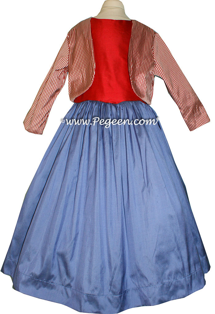 Red, White and Blueberry Silk Dress For Pageant  Style 316