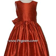 AUTUMN COPPER flower girl dresses