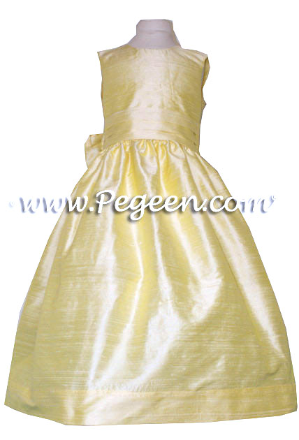 Baby Chick yellow silk flower girl dress from Pegeen Classics Style 318