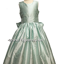 Bay (Capris Blue) flower girl dresses