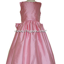 Bubblegum Silk Flower Girl Dresses style 318 by Pegeen