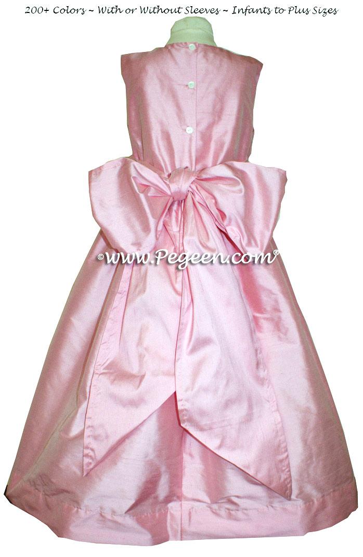 Flower Girl Dresses in Bubblegum Pink Silk - Style 318 | Pegeen