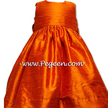 SQUASH (ORANGE) FLOWER GIRL dresses
