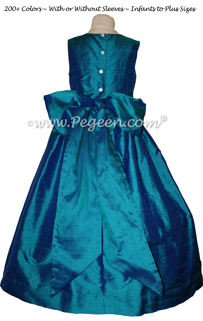 Hazel Silk flower girl dresses for your wedding party by PEGEEN