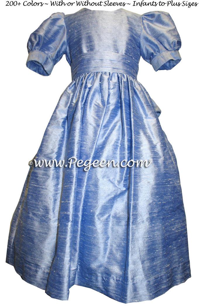 denim blue flower girl dresses to match ann taylor