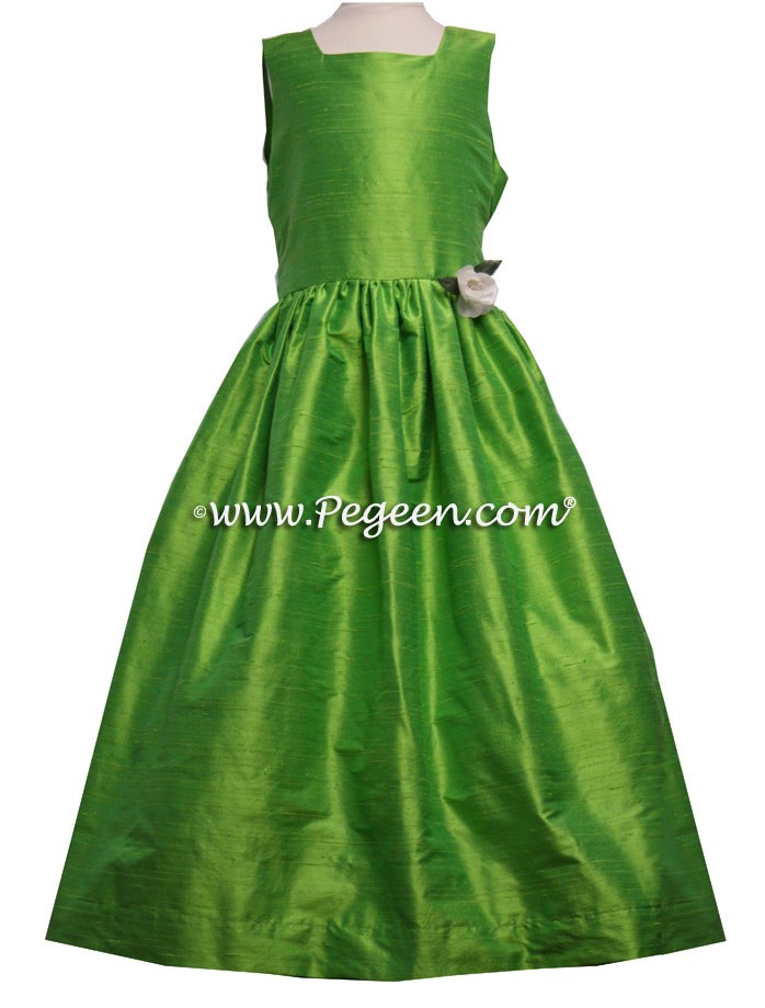 Keylime green flower girl dresses