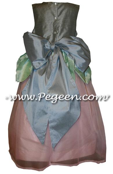 PINK, POWDER BLUE CUSTOM FAIRY FLOWER GIRL DRESSES