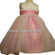 BUBBLEGUM PINK flower girl dresses
