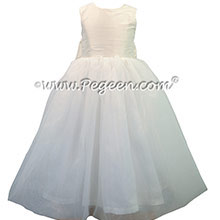 Custom Antique White Silk First Communion dress Style 326