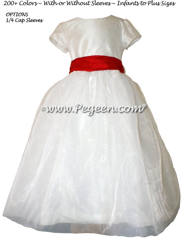 Christmas Red FLOWER GIRL DRESSES