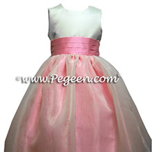 BUBBLE GUM PINK CUSTOM FLOWER GIRL DRESSES