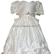 Antique White Silk SILK Flower Girl Dresses Style 328 - good for Pageants